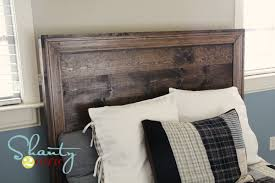 Building A Wooden Platform Bed by Ana White Hailey Planked Headboard Diy Projects
