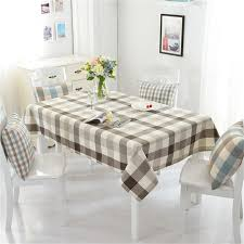 dining room table cloth modern cotton linen table cloth dining room lattice tablecloth