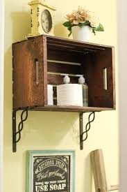 Wood Bathroom Shelves by Best 25 Crate Shelves Ideas On Pinterest Crates Bookshelf Diy
