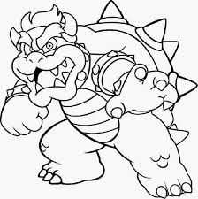 mario bowser coloring pages to print murderthestout
