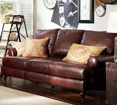 Pottery Barn Leather Couches 38 Best Leather Sofa Images On Pinterest Leather Sofas Living