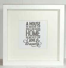 framed quote print new home gift frame moving gift house