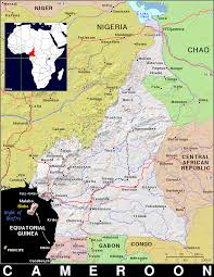 Map Of Cameroon Cm Cameroon Public Domain Maps By Pat The Free Open Source