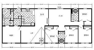 5 bedroom double wide floor plans double wide trailer floor plans inspirational 5 bedroom