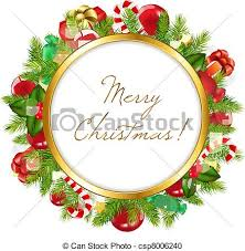 vector clipart of merry frame vector illustration