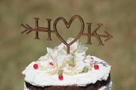 wedding cake toppers initials rustic initials arrow cake topper decoration wedding