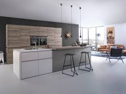 cuisine lineaire cuisine moderne design avec ilot lineaire cbel central newsindo co