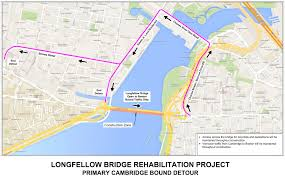 Traffic Map Boston by Longfellow Bridge Cambridge Bound Side Closes For Construction On