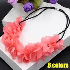 flowers for headbands women fabric flowers for headbands elastic shabby flower headband