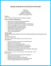 Resume Profile Examples For College Students by Accounting Student Resume Here Presents How The Resume Of