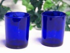 blue tea light candles new egg shaped pillar candle holder glass metal base handcrafted in