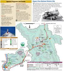 Utah National Park Map by Glacier National Park And Revelstoke National Park Map Glacier