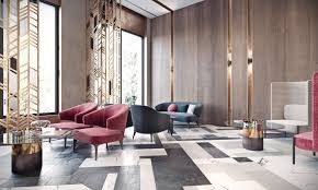 modern lobby modern lobby in moscow combines brass marble special ls