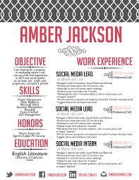 social media resume the jackson resume design custom resume creative resume
