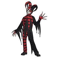 child killer clown costume medium age 8 10 amazon co uk toys