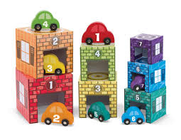 amazon com melissa u0026 doug nesting and sorting garages and cars