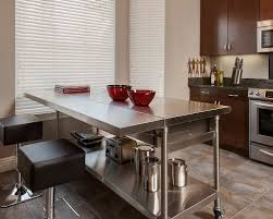 stainless steel kitchen island with seating white kitchen with a stainless steel work table as an island
