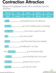 10 best contractions images on pinterest spelling worksheets