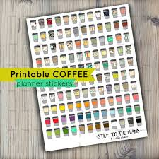 coffee planner stickers printable coffee printable planner stickers patterned coffee planner