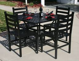 36 Patio Table Ansley Luxury 4 Person All Welded Cast Aluminum Patio Furniture