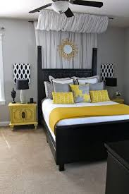 Grey And Yellow Bedroom by Black White And Yellow Bedroom Home Design Ideas
