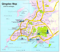 Map Of Asia With Cities by China Qingdao Maps City Layout Attractions Subway