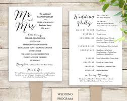 diy wedding program fan template printable folded order of service wedding program byron