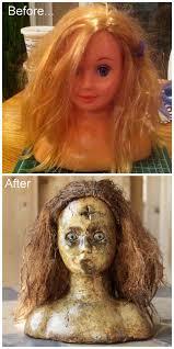 diy scary doll head tutorial diyhalloweencrafts