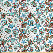 70 off crabs decor fabric by the yard by ambesonne illustration