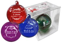 christmas ornament favors christmas ornament wedding favors blown glass