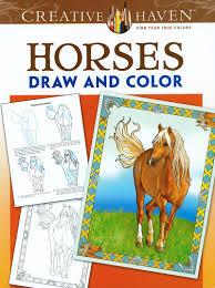 horses draw u0026 color coloring book www hoofprints com