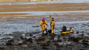 four teenagers saved from water up to their chests after extreme