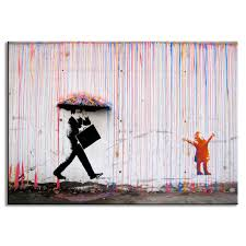 Wall Paintings For Living Room Art Colorful Rain Wall Canvas Wall Art Living Room Wall Decor