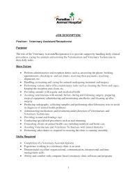 pleasant salon receptionist resume duties on hairdresser job