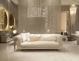 mirror room divider living room sleek white marble floor white italian chesterfield