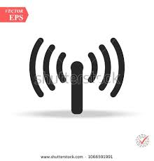t harger icones bureau wifi antenna line icon outline vector sign linear style pictogram