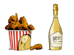 champagne bottle cartoon fried chicken wine pairings wine folly