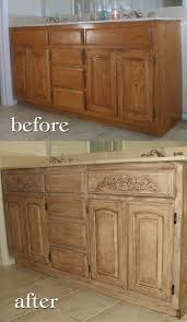 painting bathroom cabinets with chalk paint project transforming builder grade cabinets to old world ascp old