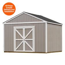 How Big Is A 2 Car Garage by Tuff Shed Wood Sheds Sheds The Home Depot