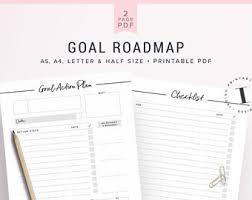 goal planner etsy