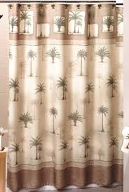 Shower Curtains With Trees West Palm Trees Fabric Shower Curtain Home Kitchen
