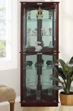 Used Curio Cabinets Lighted Curio Cabinet Ebay