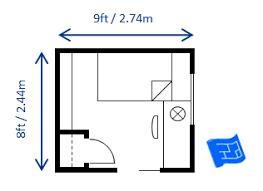 bedroom sizes in metres size