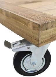 Coffee Tables With Wheels Coffee Table With Wheels Rustic 130x80 Cm Blank Teak