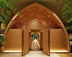 amazing wood creations japanese chapel lined with carved
