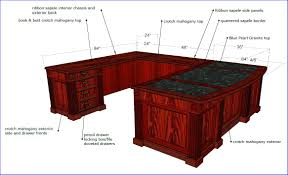 U Shaped Office Desk Shaped Executive Office Desk