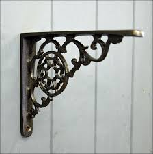 Bookcase Shelf Brackets Furniture Black Rod Iron Shelves White Wrought Iron Shelf