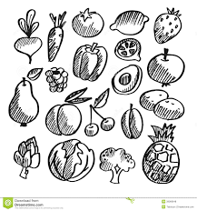 black and white vegetables clipart clipartxtras