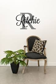 best images about monogram name initials vinyl decals the custom family name monogram vinyl wall art decal last letters personalized home decor living room