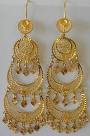 bengali gold earrings made gold plated morni design traditional punjabi earrings